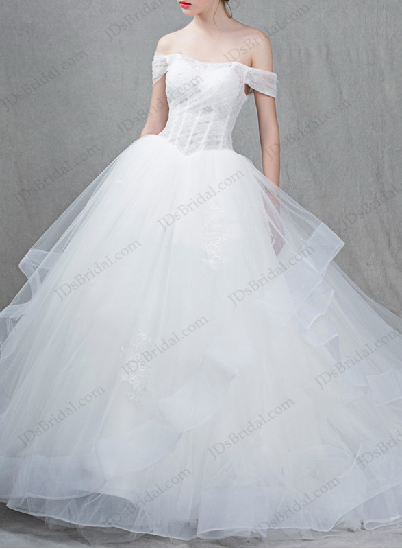 IS060 Princess illusion tulle ball gown wedding dresses online shop